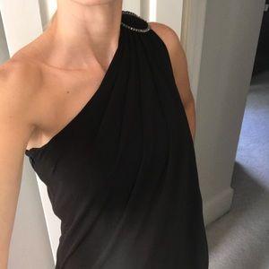 White house black market one shoulder Grecian gown